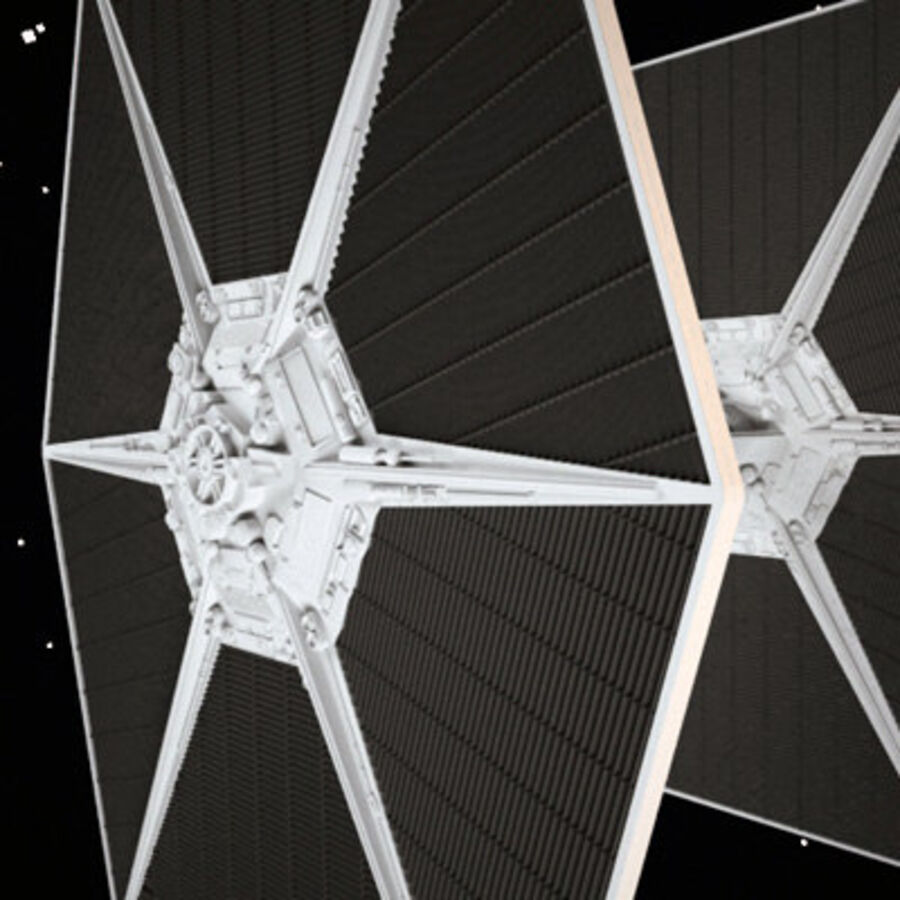 X-WIng et Tie Fighter royalty-free 3d model - Preview no. 6