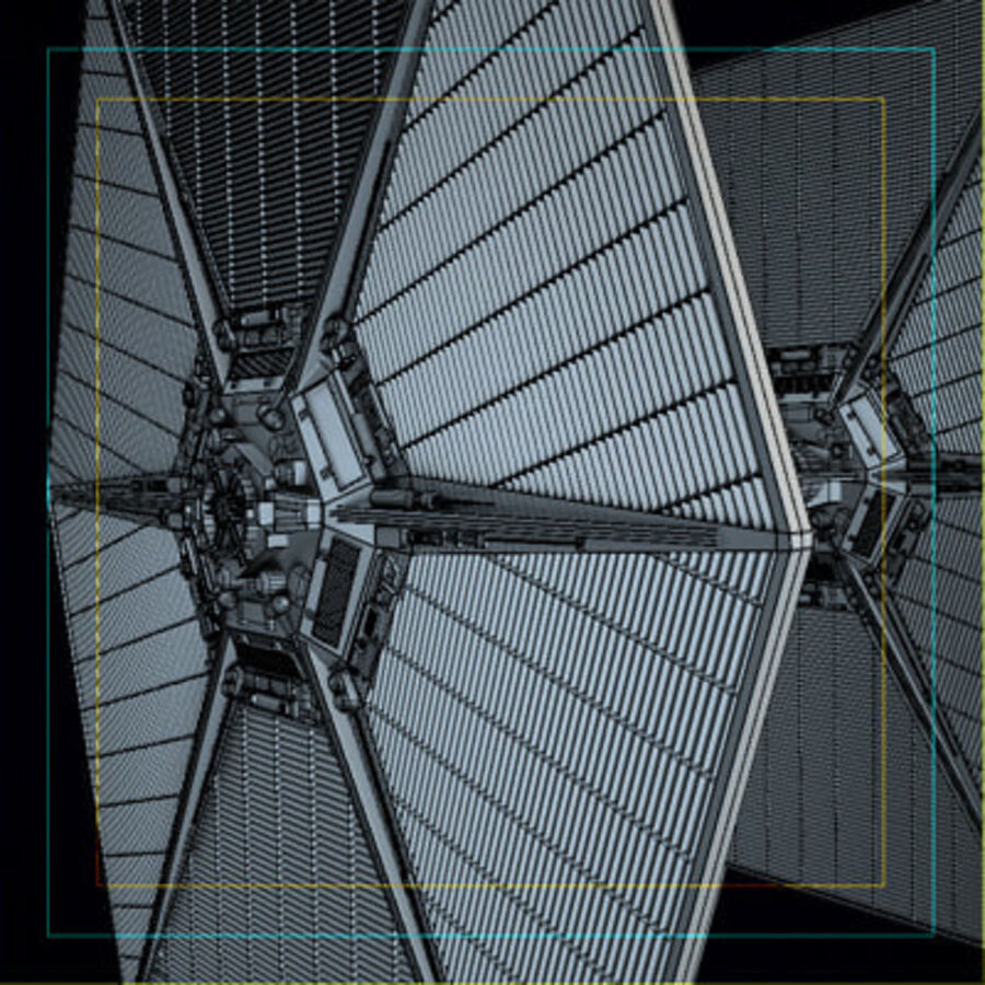 X-WIng and Tie Fighter royalty-free 3d model - Preview no. 13