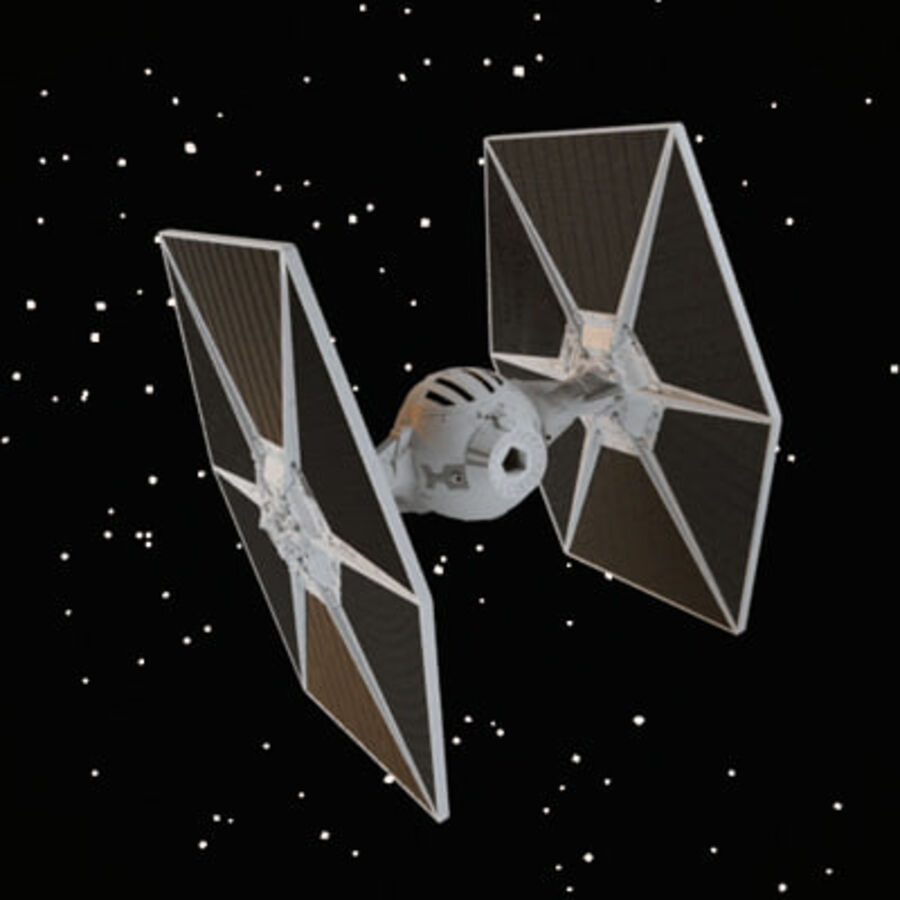 X-WIng et Tie Fighter royalty-free 3d model - Preview no. 3