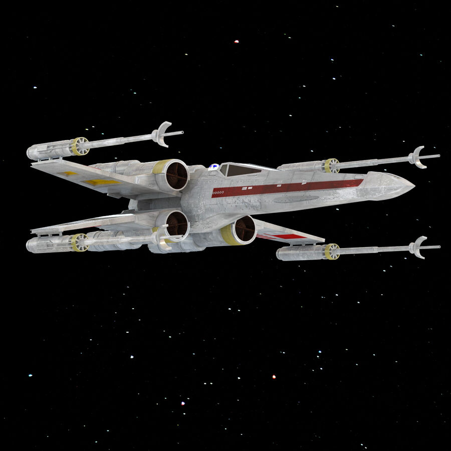 X-WIng et Tie Fighter royalty-free 3d model - Preview no. 21