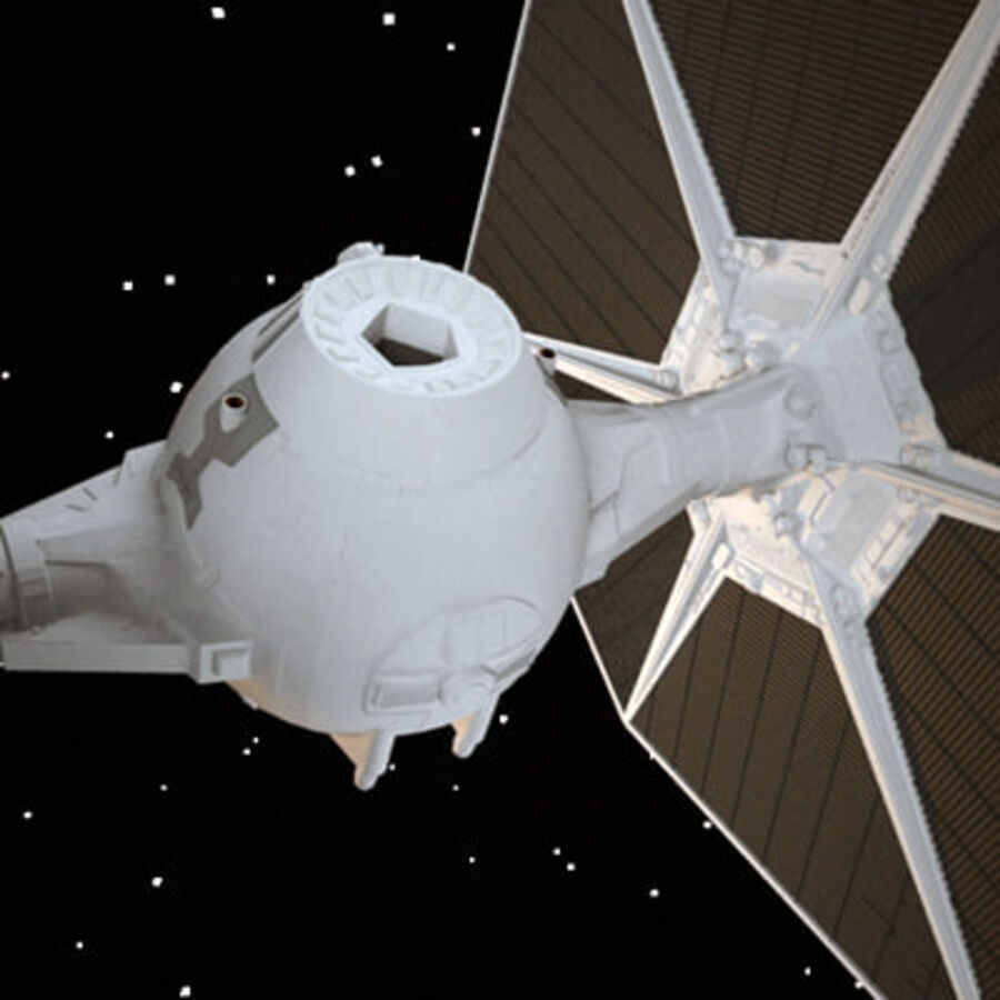 X-WIng and Tie Fighter royalty-free 3d model - Preview no. 8