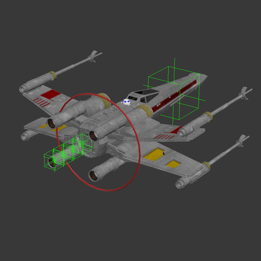 X-WIng et Tie Fighter royalty-free 3d model - Preview no. 29