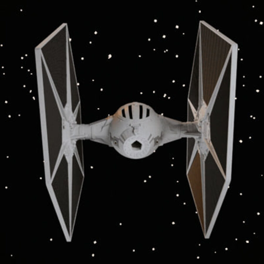 X-WIng et Tie Fighter royalty-free 3d model - Preview no. 5