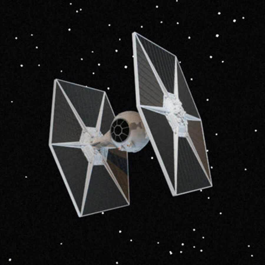 X-WIng and Tie Fighter royalty-free 3d model - Preview no. 2