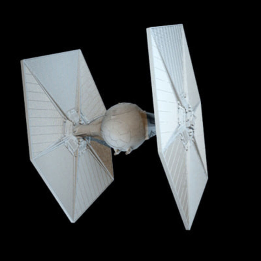 X-WIng and Tie Fighter royalty-free 3d model - Preview no. 11