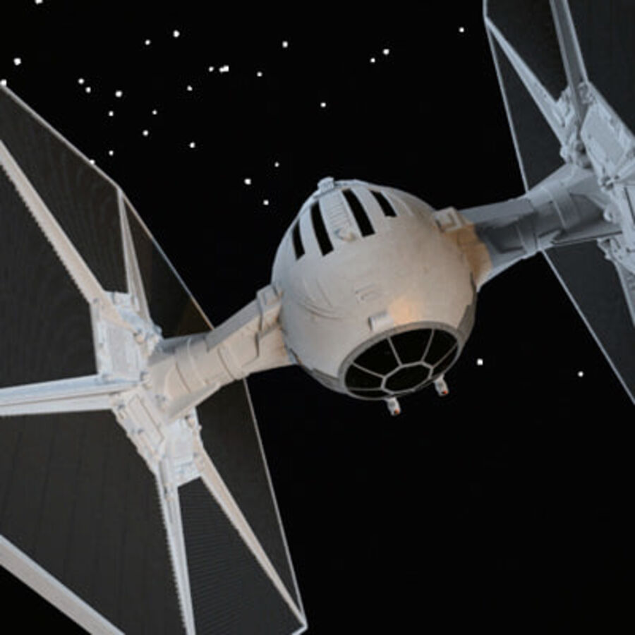 X-WIng et Tie Fighter royalty-free 3d model - Preview no. 9