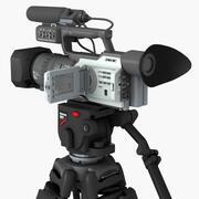 삼각대에 카메라 3d model