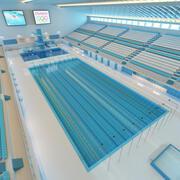 Sporty olimpijskie Pływanie 3d model