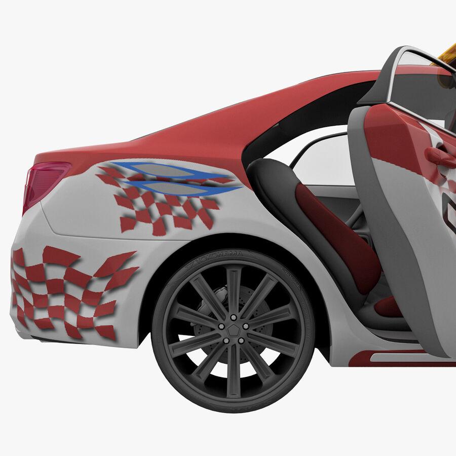 Toyota Camry 2012 Pace Car aparejado royalty-free modelo 3d - Preview no. 44