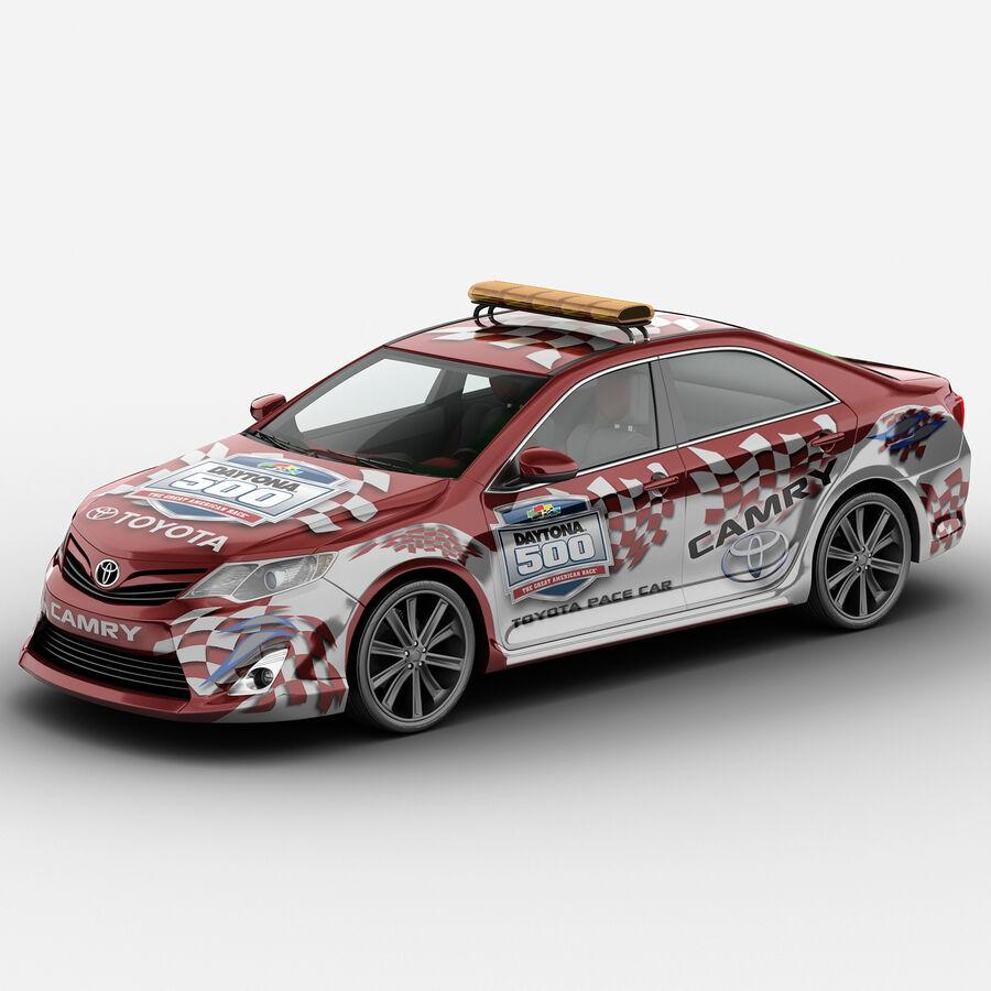 Toyota Camry 2012 Pace Car aparejado royalty-free modelo 3d - Preview no. 3