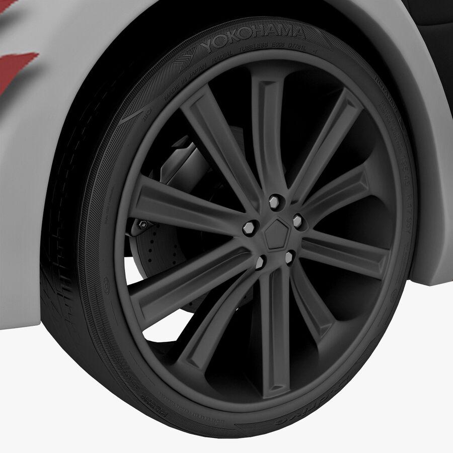 Toyota Camry 2012 Pace Car aparejado royalty-free modelo 3d - Preview no. 62