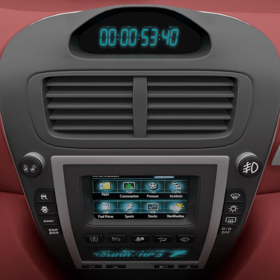 Toyota Camry 2012 Pace Car aparejado royalty-free modelo 3d - Preview no. 31