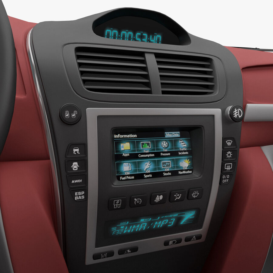Toyota Camry 2012 Pace Car aparejado royalty-free modelo 3d - Preview no. 29