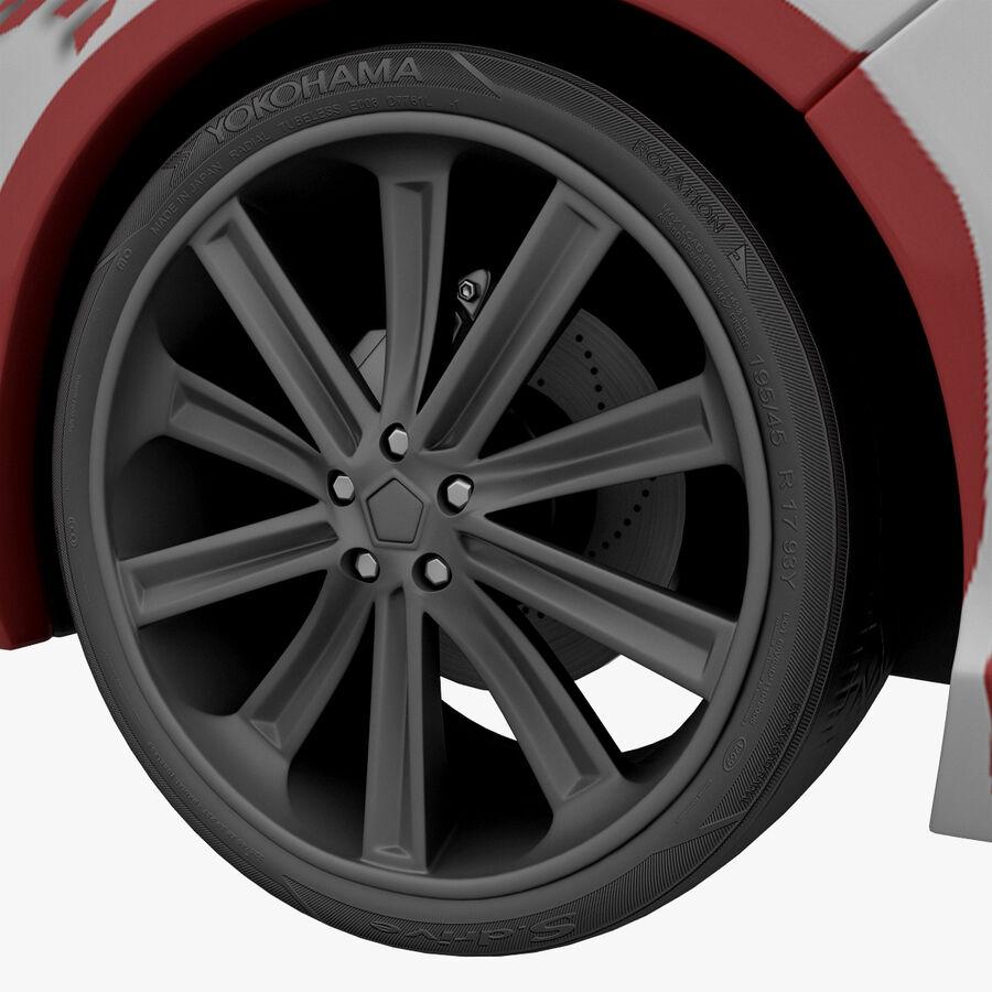 Toyota Camry 2012 Pace Car aparejado royalty-free modelo 3d - Preview no. 18