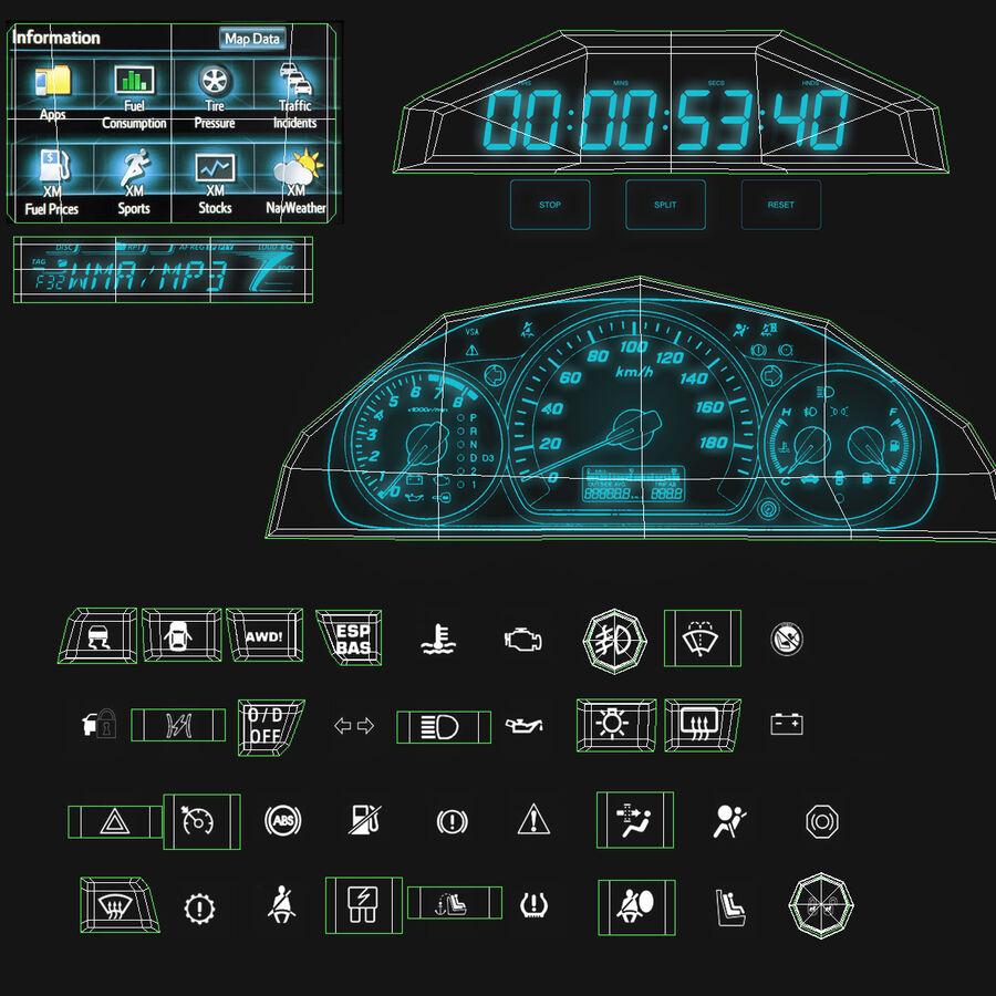 Toyota Camry 2012 Pace Car aparejado royalty-free modelo 3d - Preview no. 102