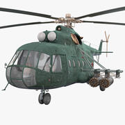 Radziecki helikopter transportowy Mil Mi-8 2 3d model