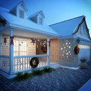 Christmas House 3d model