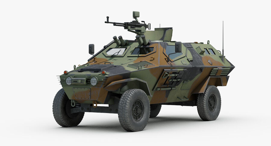 Otokar Cobra Armored Vehicle royalty-free 3d model - Preview no. 2