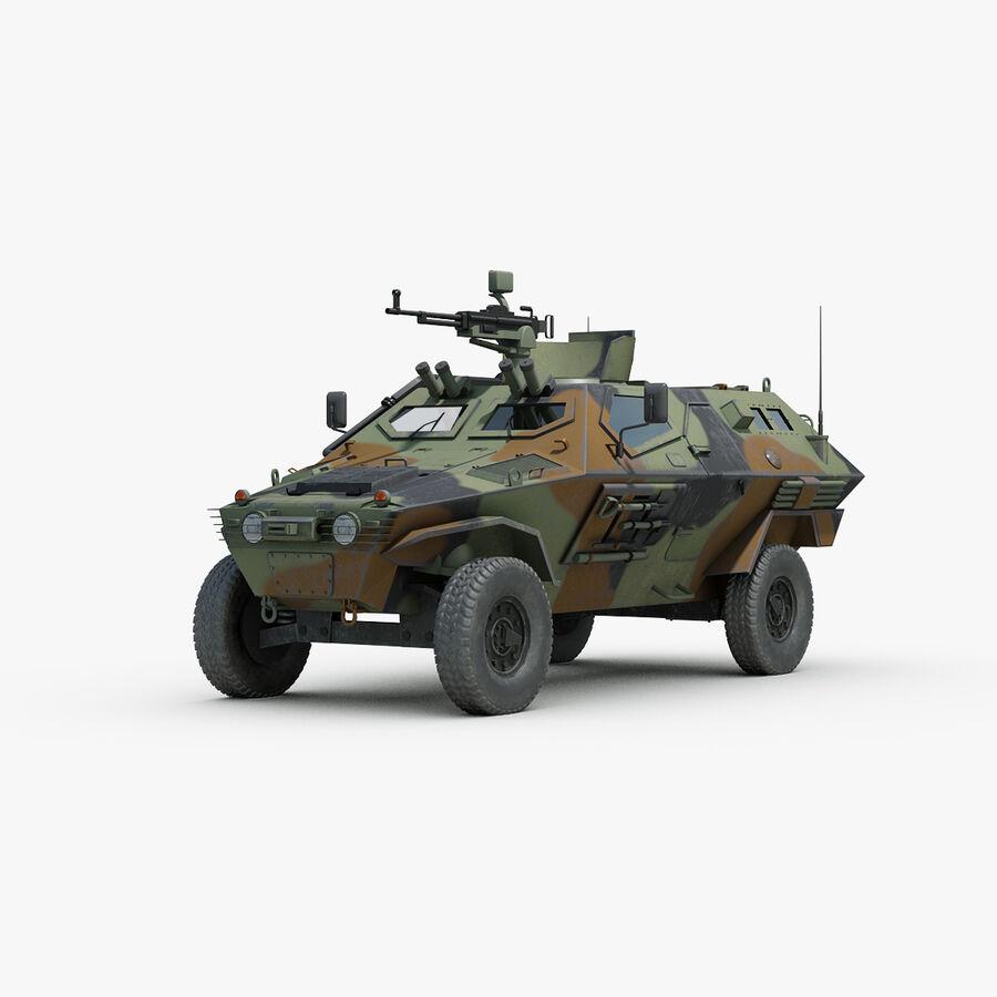 Otokar Cobra Armored Vehicle royalty-free 3d model - Preview no. 1
