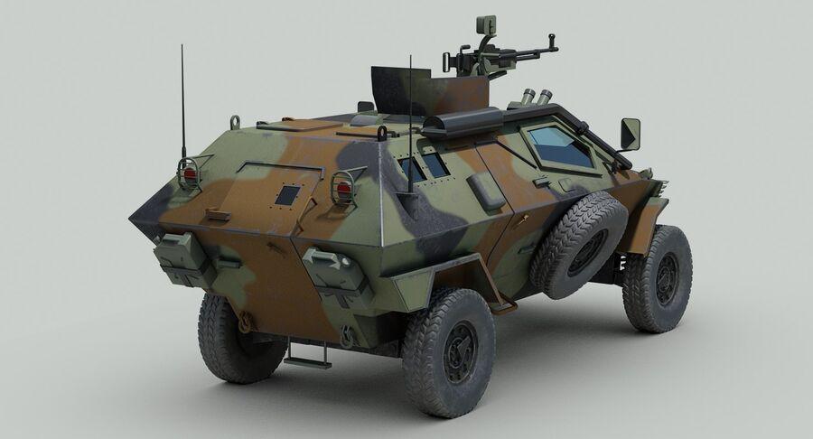 Otokar Cobra Armored Vehicle royalty-free 3d model - Preview no. 7