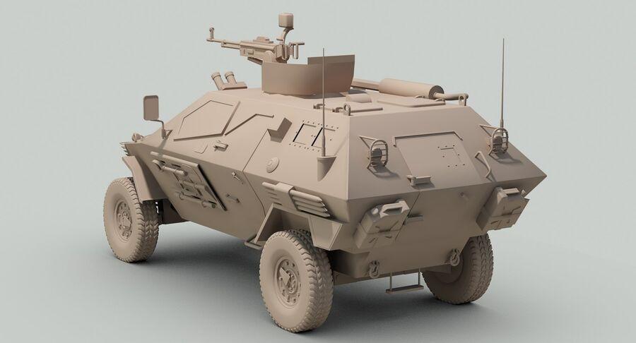 Otokar Cobra Armored Vehicle royalty-free 3d model - Preview no. 19