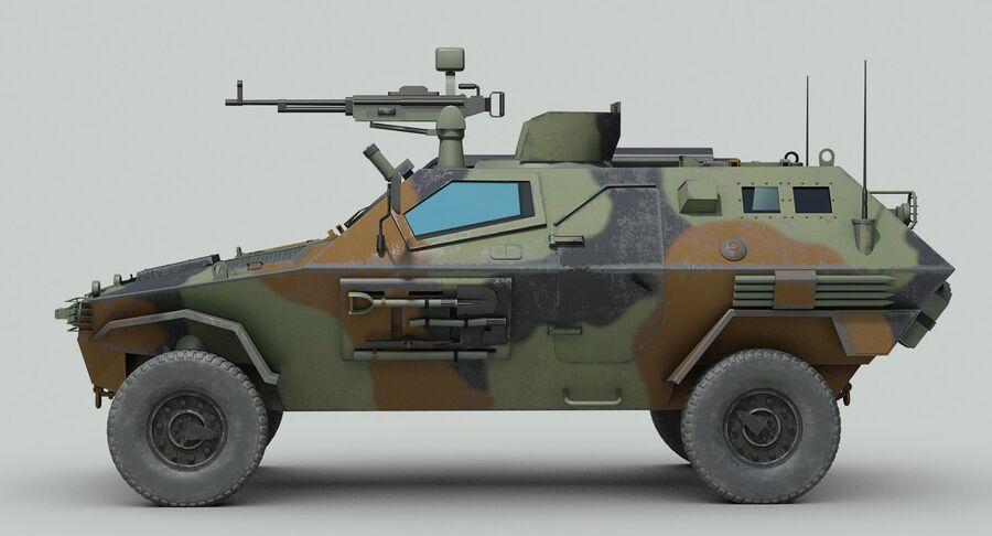 Otokar Cobra Armored Vehicle royalty-free 3d model - Preview no. 5
