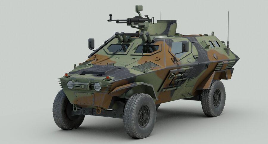 Otokar Cobra Armored Vehicle royalty-free 3d model - Preview no. 4