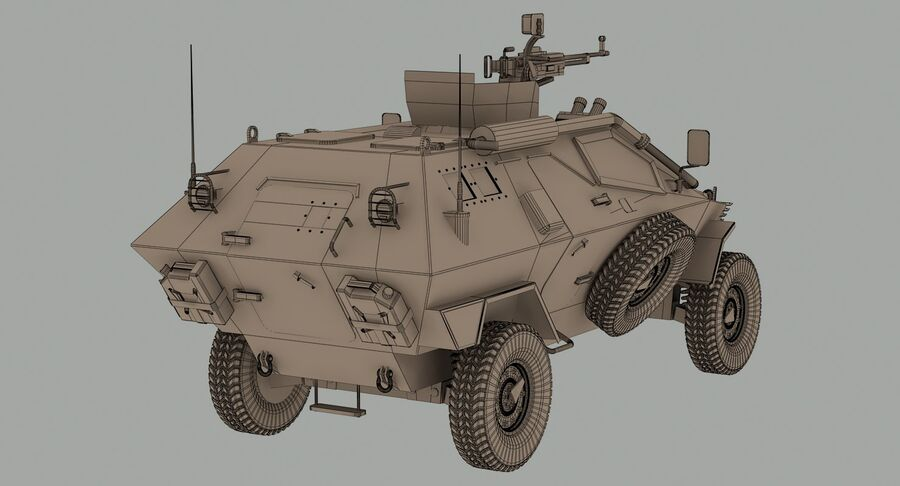 Otokar Cobra Armored Vehicle royalty-free 3d model - Preview no. 14