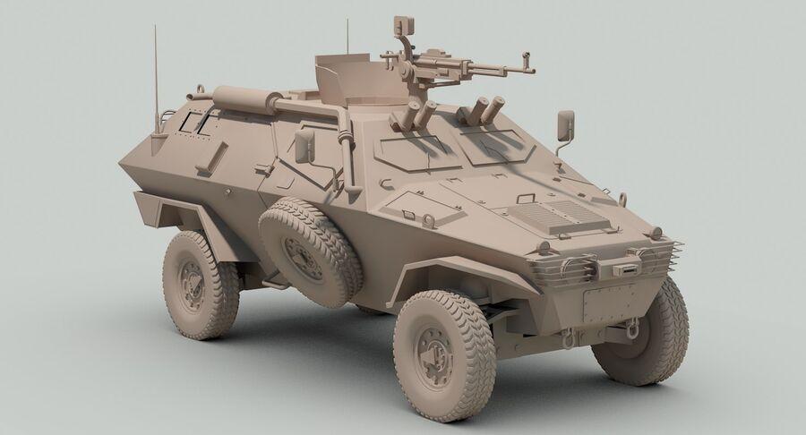 Otokar Cobra Armored Vehicle royalty-free 3d model - Preview no. 17