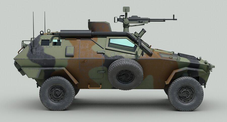 Otokar Cobra Armored Vehicle royalty-free 3d model - Preview no. 8