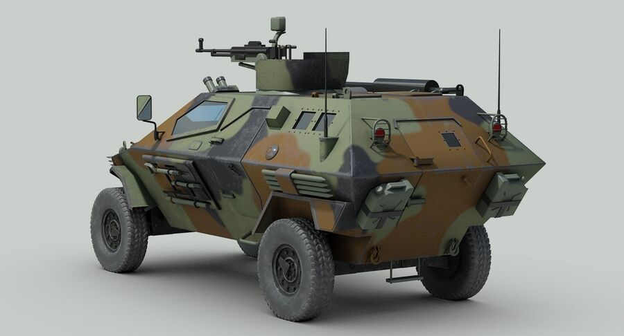 Otokar Cobra Armored Vehicle royalty-free 3d model - Preview no. 6