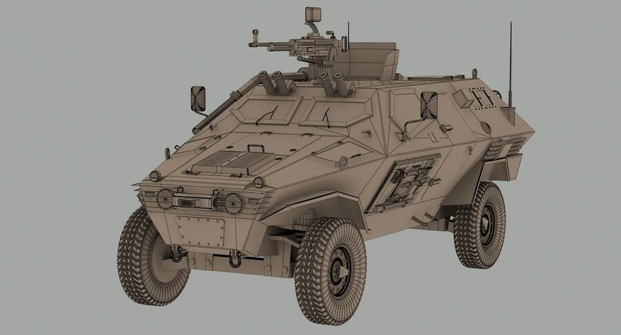 Otokar Cobra Armored Vehicle royalty-free 3d model - Preview no. 12
