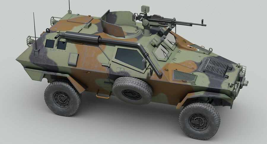 Otokar Cobra Armored Vehicle royalty-free 3d model - Preview no. 10