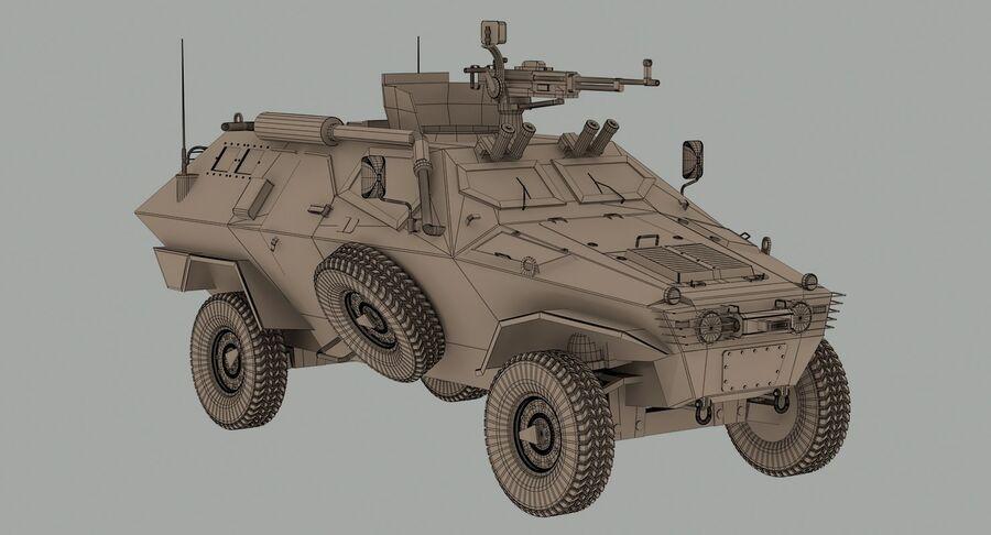 Otokar Cobra Armored Vehicle royalty-free 3d model - Preview no. 13