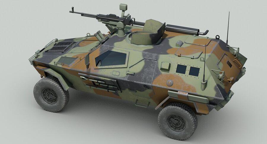 Otokar Cobra Armored Vehicle royalty-free 3d model - Preview no. 11