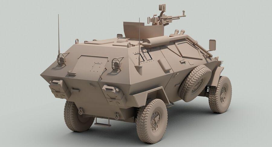 Otokar Cobra Armored Vehicle royalty-free 3d model - Preview no. 18