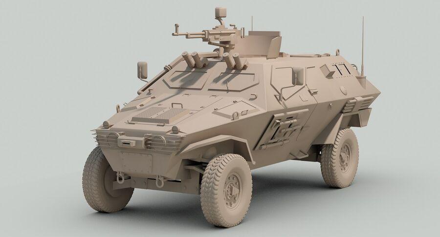 Otokar Cobra Armored Vehicle royalty-free 3d model - Preview no. 16