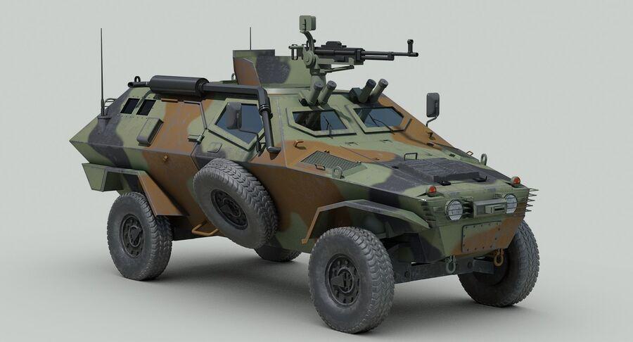 Otokar Cobra Armored Vehicle royalty-free 3d model - Preview no. 9