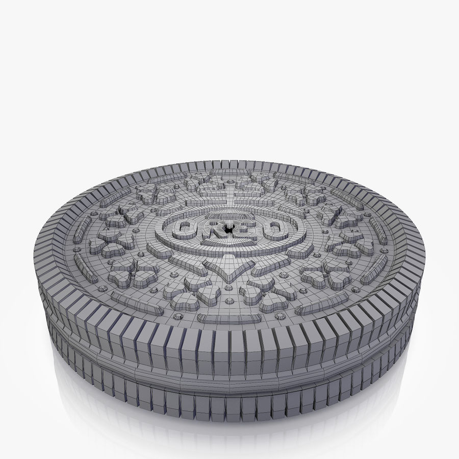 Oreo Cookie royalty-free 3d model - Preview no. 2