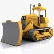 Bulldozer dos desenhos animados 3d model