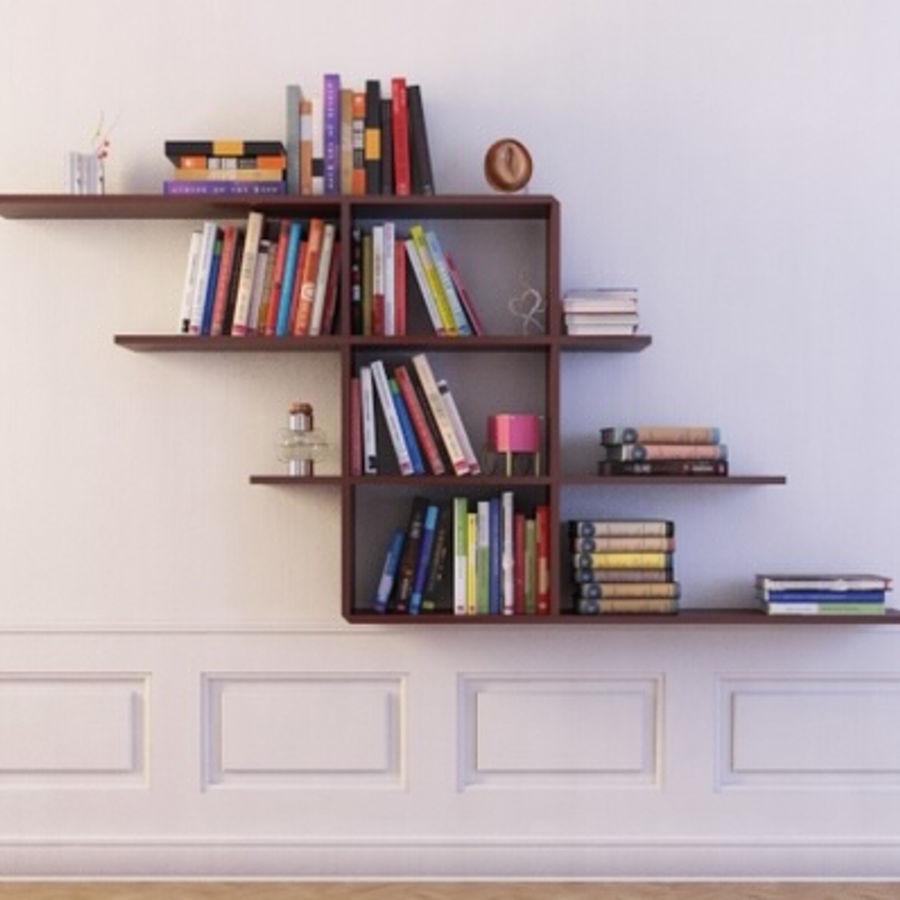 Libreria 12 Parete sospesa Libreria con libri Modello 3D $25 - .fbx ...