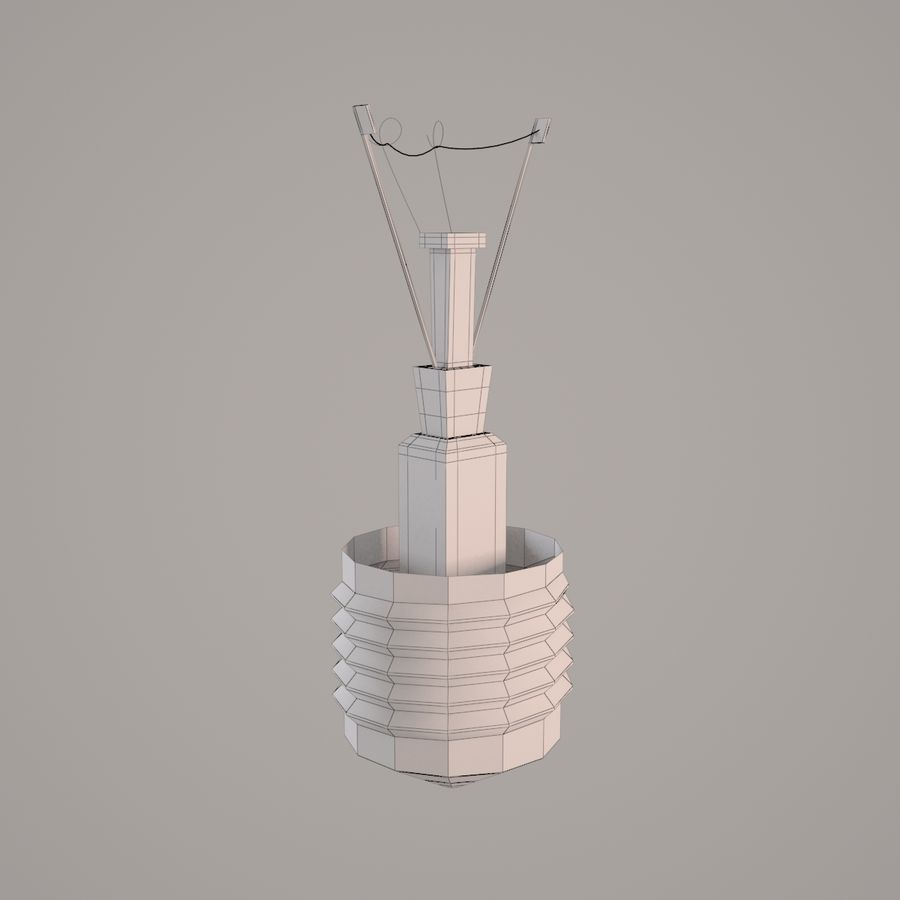 Incandescent Lamp royalty-free 3d model - Preview no. 8