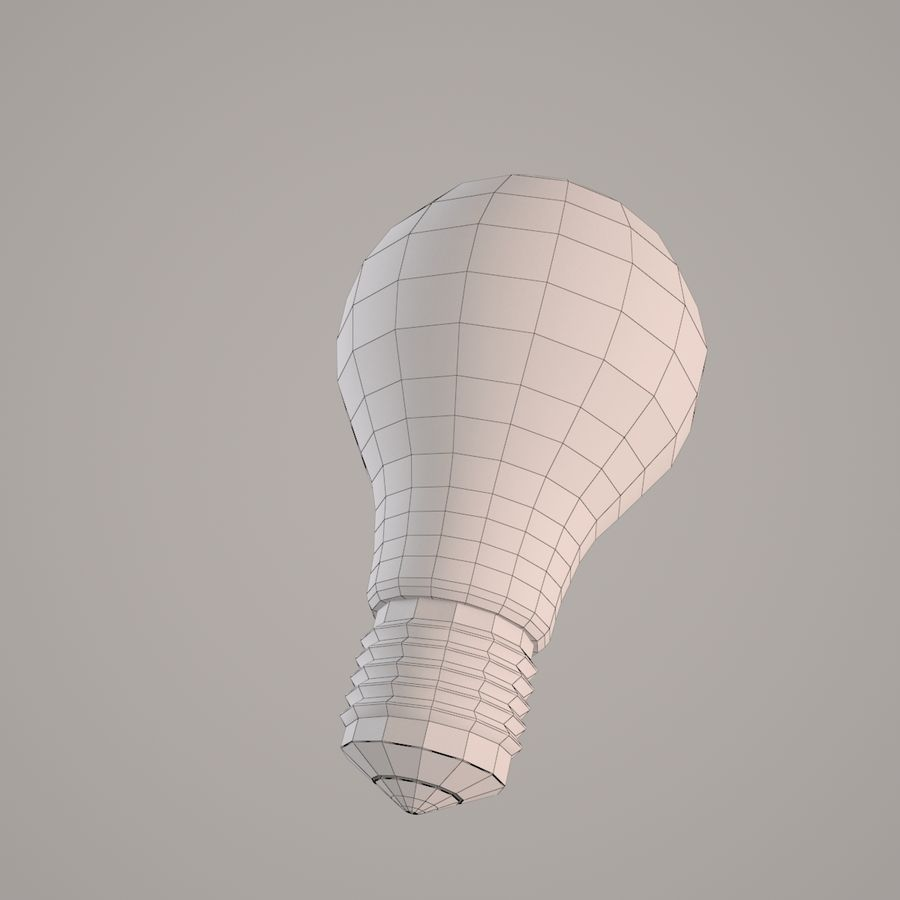 Incandescent Lamp royalty-free 3d model - Preview no. 4