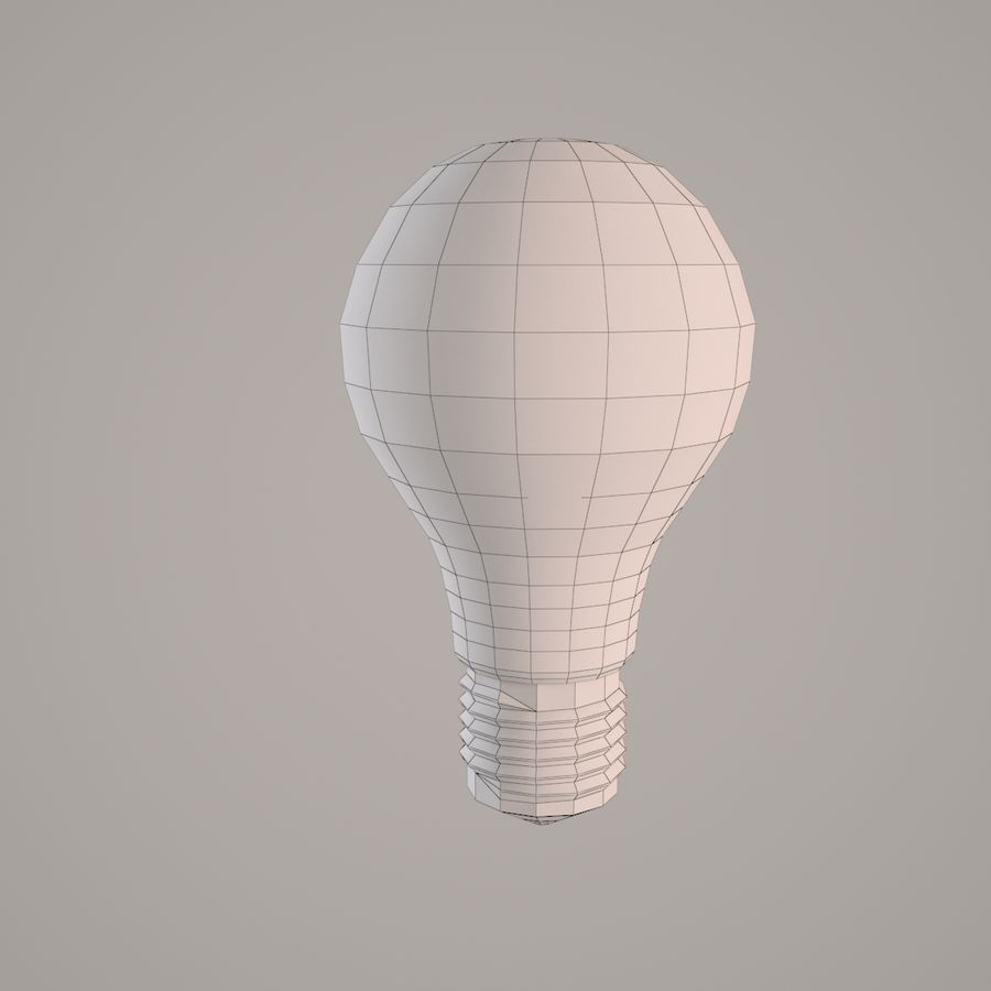 Incandescent Lamp royalty-free 3d model - Preview no. 5