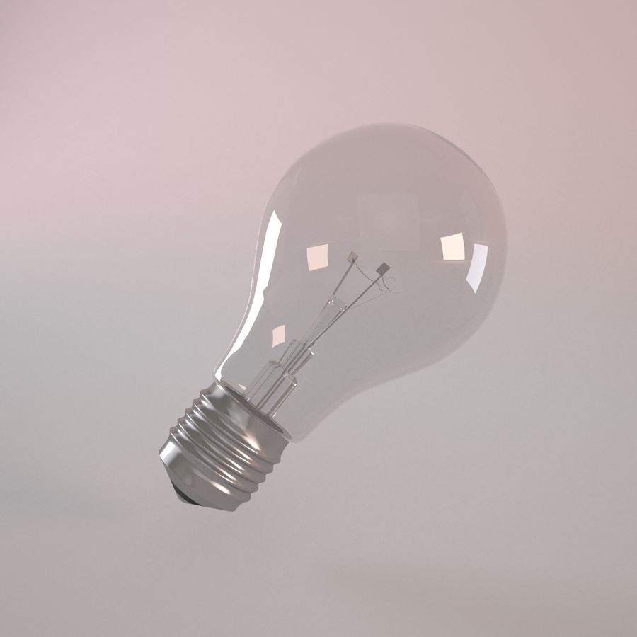 Incandescent Lamp royalty-free 3d model - Preview no. 3
