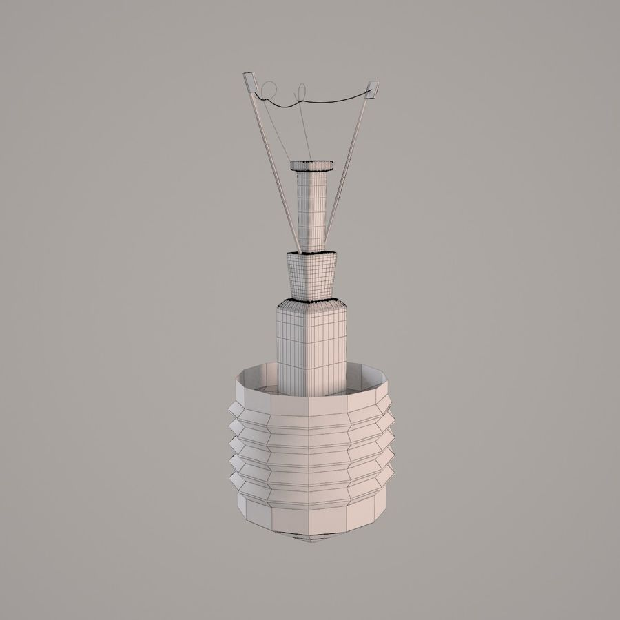 Incandescent Lamp royalty-free 3d model - Preview no. 7