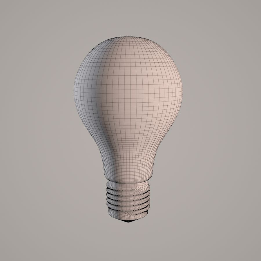 Incandescent Lamp royalty-free 3d model - Preview no. 6
