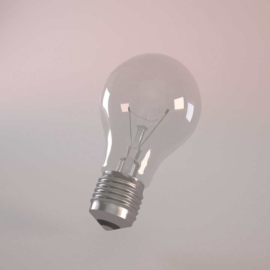 Incandescent Lamp royalty-free 3d model - Preview no. 1