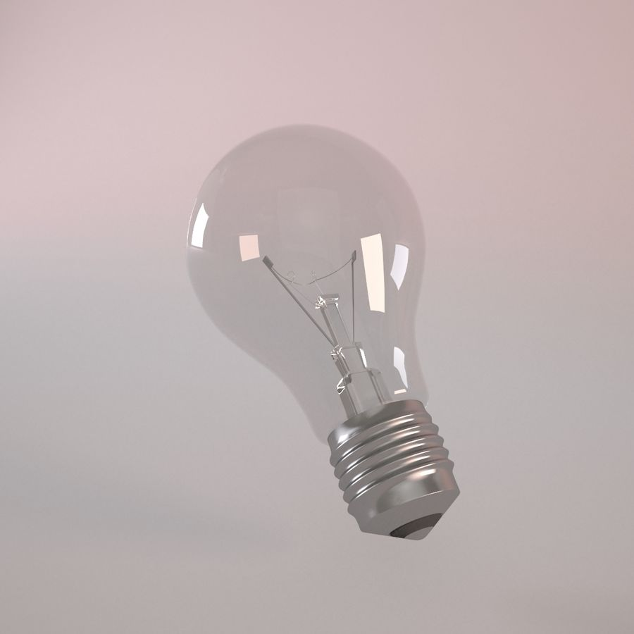 Incandescent Lamp royalty-free 3d model - Preview no. 2