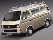 Volkswagen T3 Passagerare 1979-1988 3d model